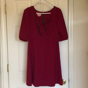Wine color cut dress